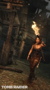 Lara with Torch
