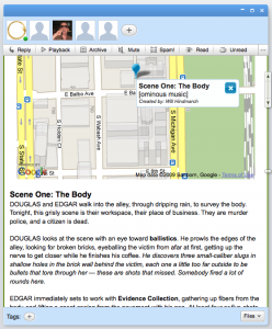 Wave interacts with Google Maps in a way that could be great for play.